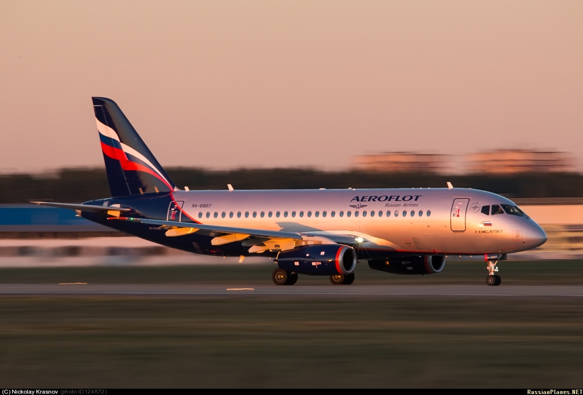 Sukhoi Superjet-100 - RA-89017, ПСИ в Жуковском