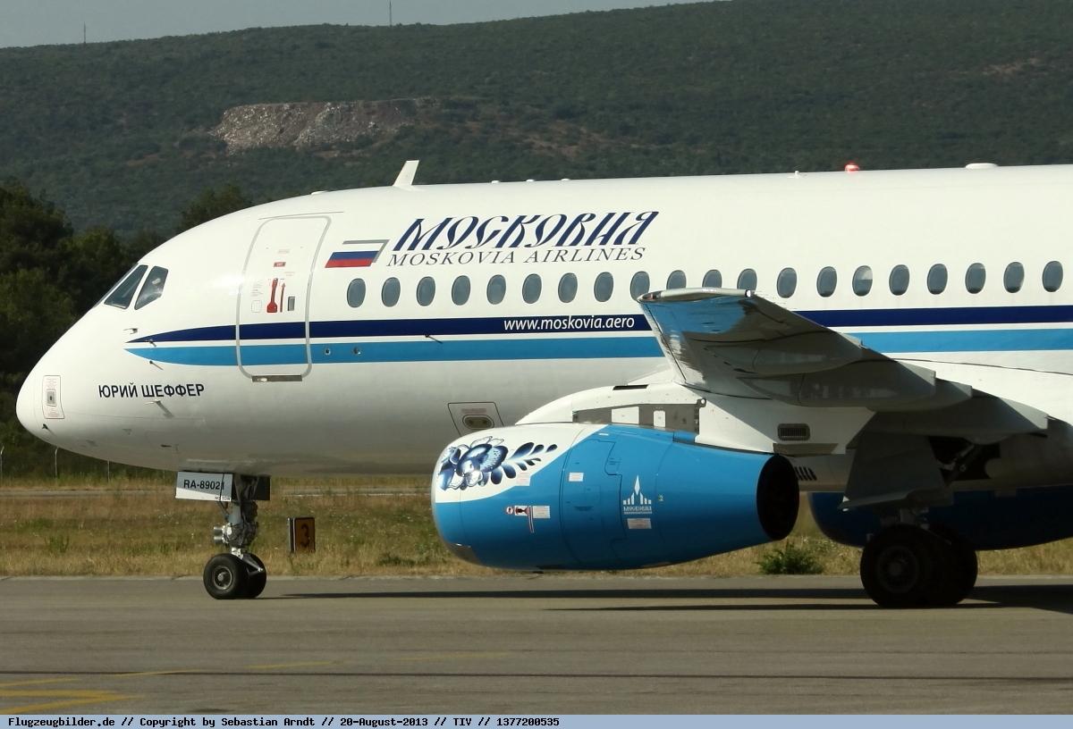 Sukhoi Superjet-100 - RA-89021 в Тивате