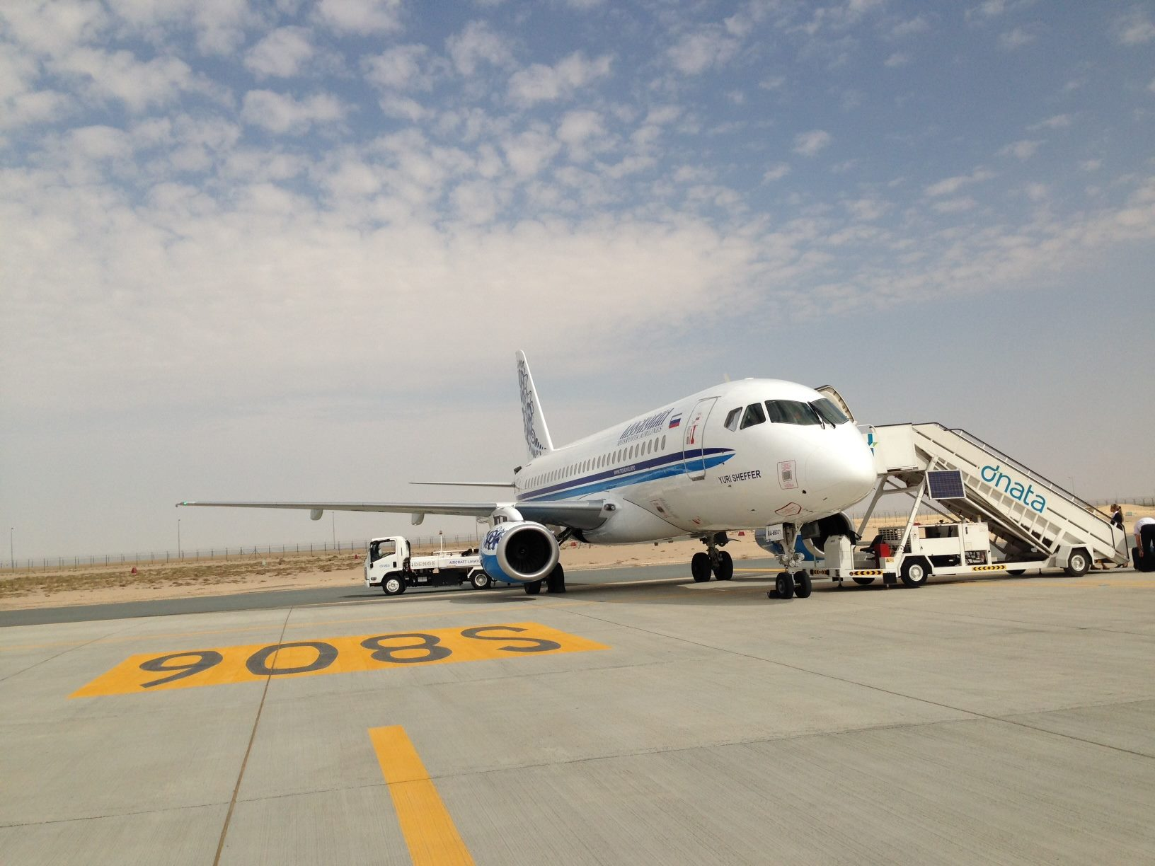 Sukhoi Superjet-100 - На салоне в Дубаи