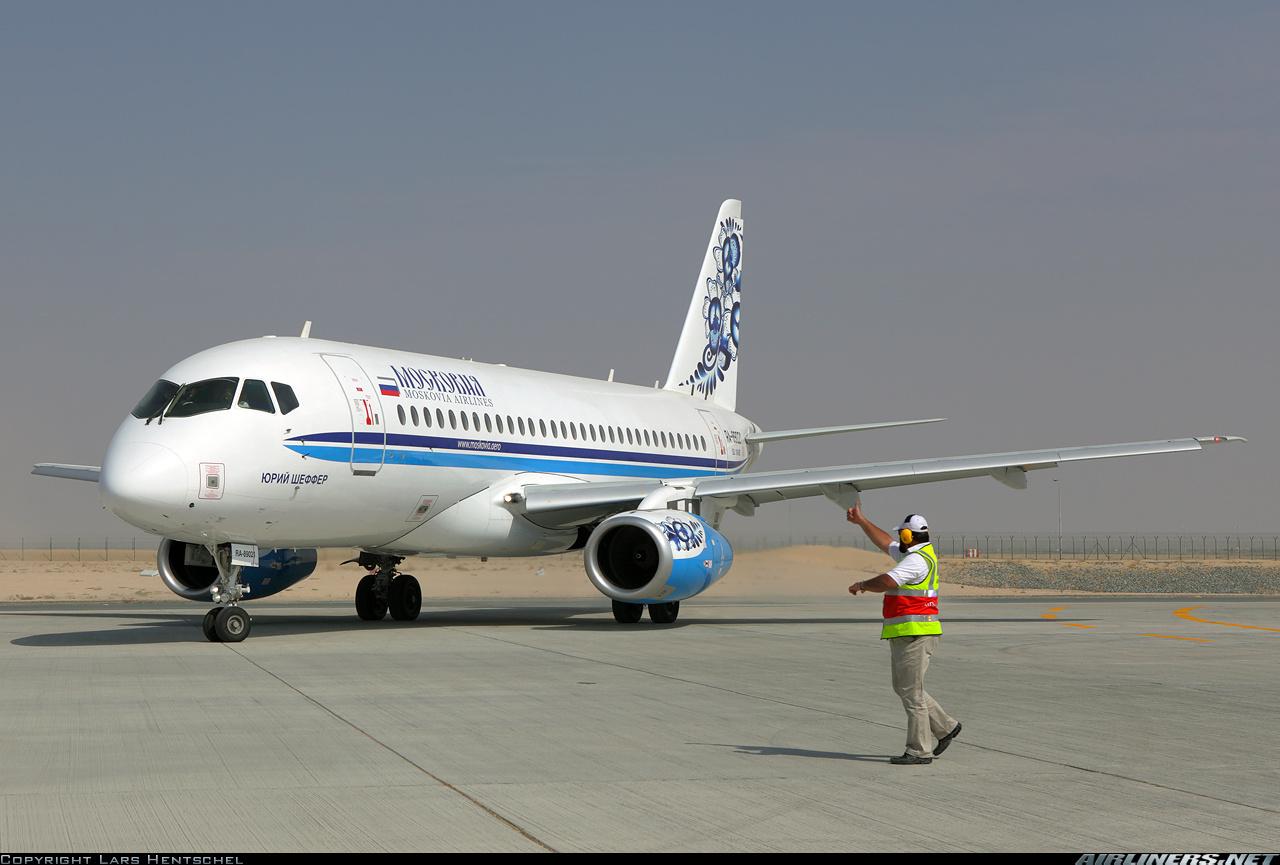 Sukhoi Superjet-100 - Юрий Шеффер в Дубаи