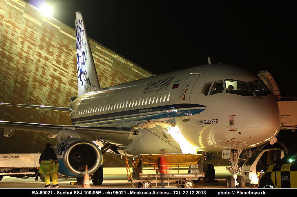Sukhoi Superjet-100 - 89021 в Берлине