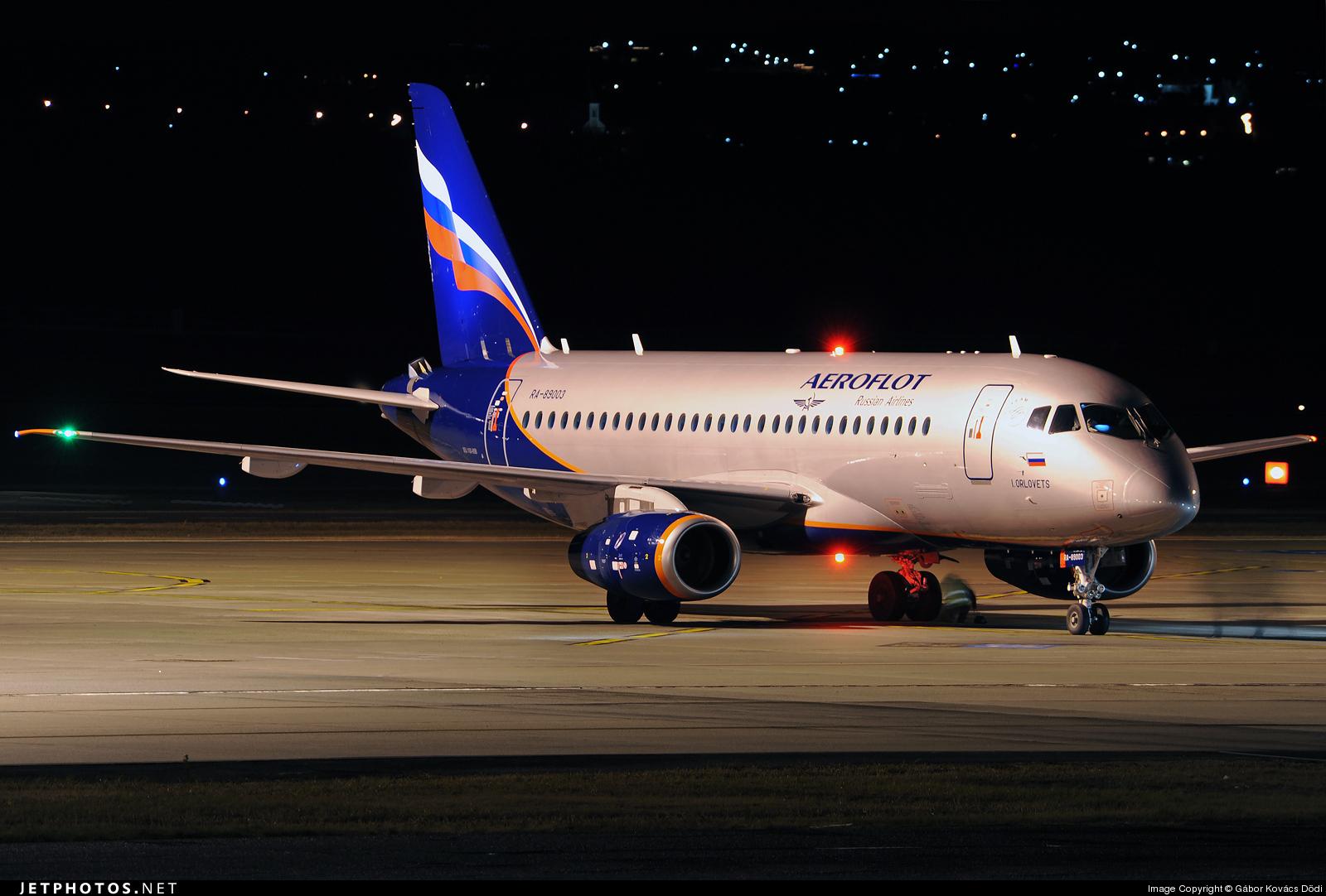 Sukhoi Superjet-100 - 89003 в Будапеште
