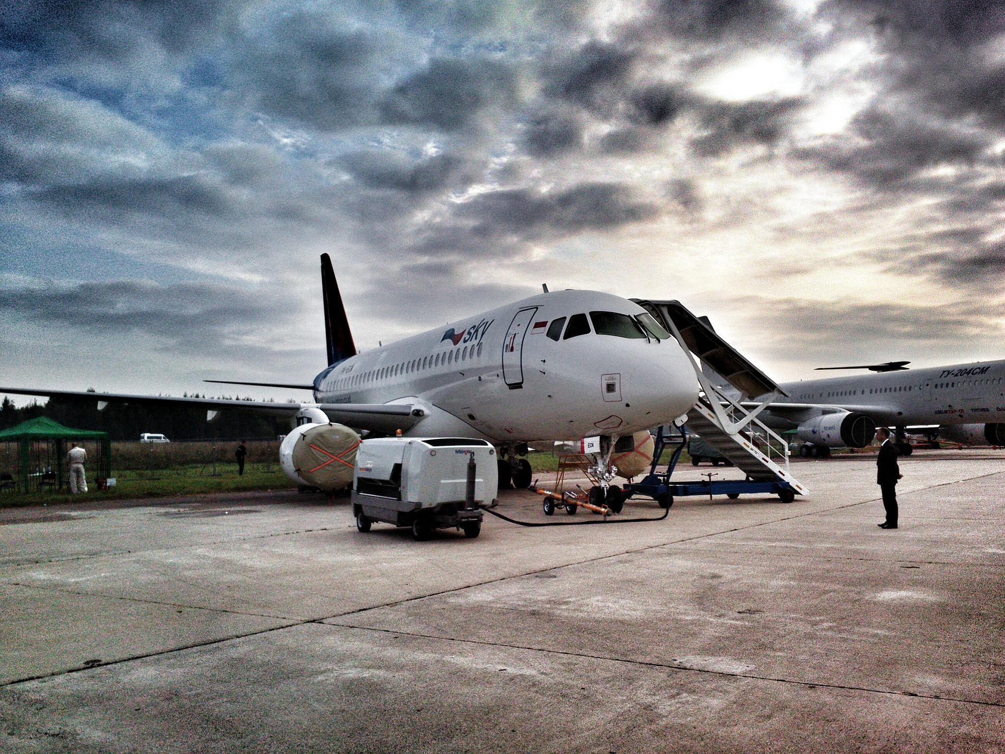 Sukhoi Superjet-100 - SSJ-100 for Sky Aviation at MAKS 2013