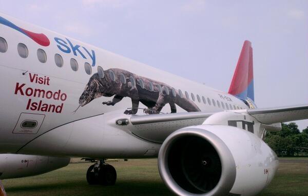 Sukhoi Superjet-100 - Готов к визиту острова Комодо