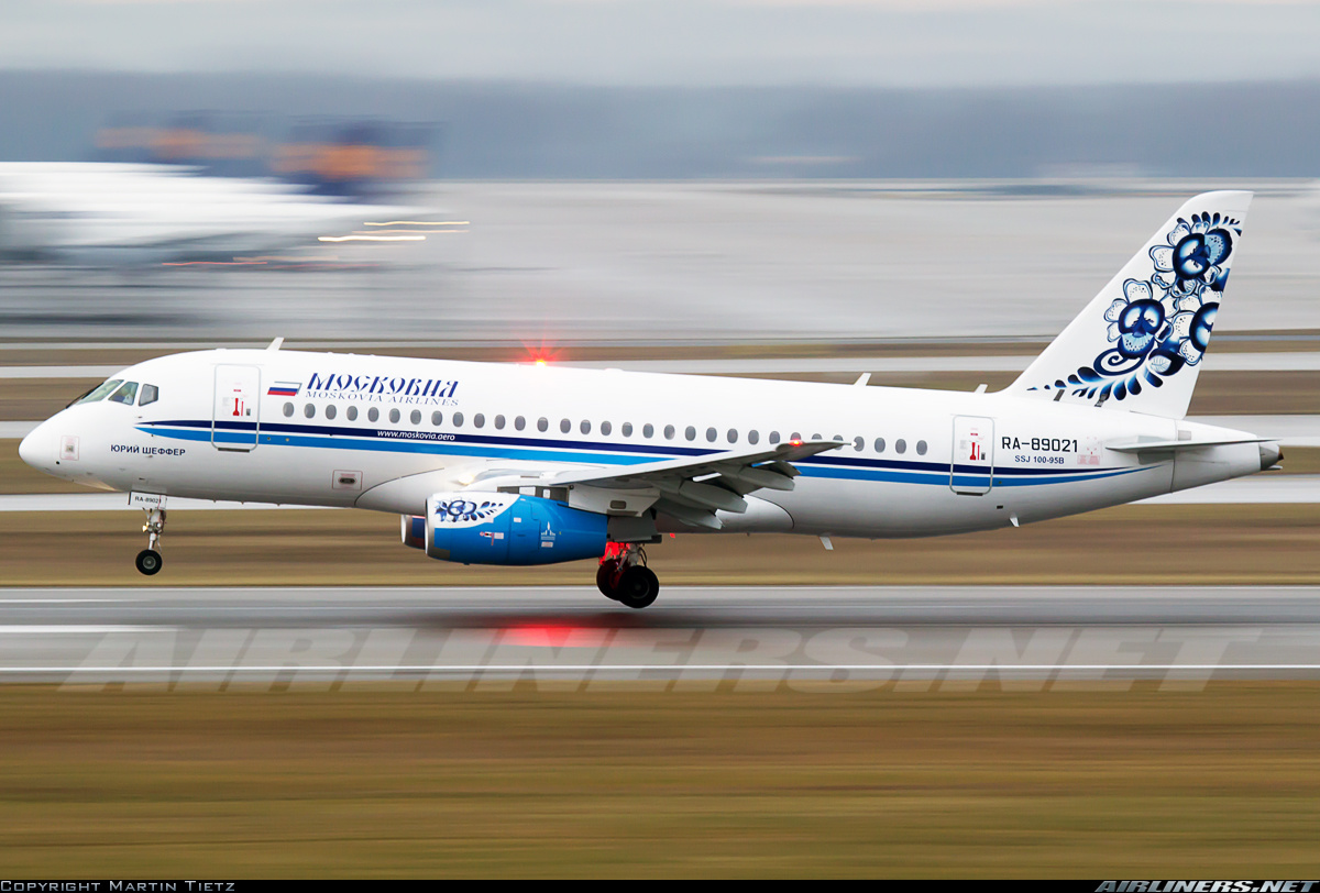 Sukhoi Superjet-100 - RAM882 from Casablanca in Munich