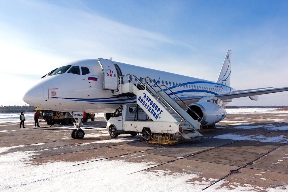 Sukhoi Superjet-100 - SSJ100-LR Аэропорт Советский