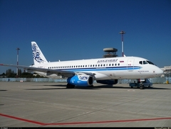 "Sukhoi Superjet-100 - Суперджет ""Московии"" в Анапе"