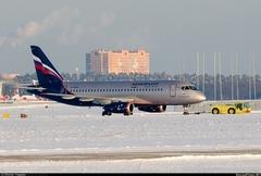 Sukhoi Superjet-100 - RA-89004 в Раменском, январь 2014