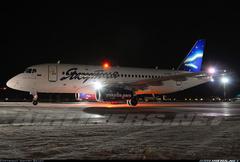 Sukhoi Superjet-100 - RA-89012 в ночи