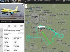 Sukhoi Superjet-100 - Испытания с заходами на полосу в Домодедово