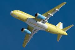 Sukhoi Superjet-100 - 95055 на посадке в Ульяновске