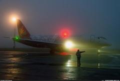 Sukhoi Superjet-100 - В тумане