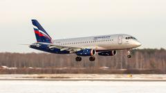Sukhoi Superjet-100 - SSJ-100, RA-89014, Aeroflot, landing in Strigino